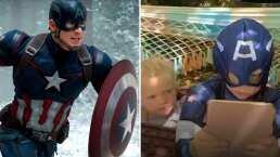 Mira la conmovedora reacción de Bridger Walker al enterarse que el Capitán América le regaló su escudo por salvar a su hermana