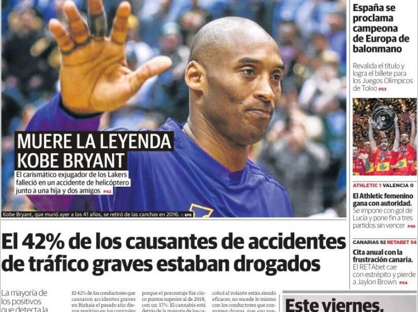 Kobe Bryant, periódico, EL CORREO.jpg