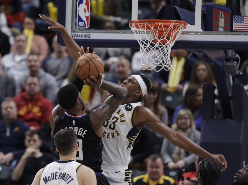 Clippers Pacers Basketball