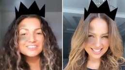 ¿Quién es real y cuál es su clon?: Thalía se sorprende al ver a una fan que es idéntica a ella