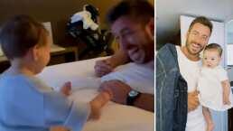 Juan Diego Covarrubias y los adorables ataques de risa entre él y su bebita