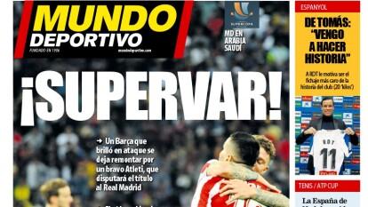 Sorpresiva eliminación del Barcelona en la Supercopa encuentra razón en el VAR.