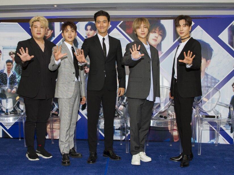 Super Junior ofreció una conferencia de prensa en México