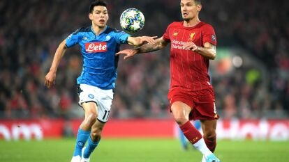 Partidazo en Anfield entre el Liverpool y la Napoli del 'Chucky' Lozano; el mexicano jugó 72 minutos.