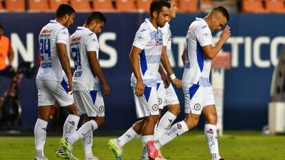 Con doblete del Cabecita Rodríguez y gol de Santiago jiménez, la Máquina se impone 1-3 al Atlético San Luis y toman el liderato en el Guard1anes 2020.