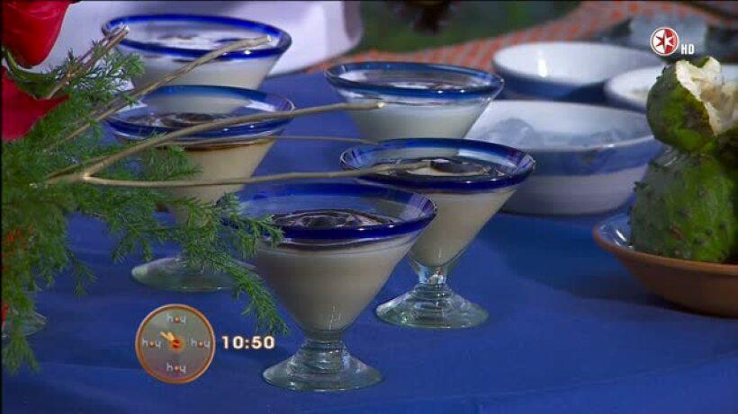 Cocina: Muse de guanábana con zapote y miel de agave