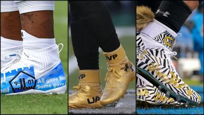 Cam Newton y la marca que lo patrocina ha revolucionado sus zapatos de futbol americano con diseños personalizados.