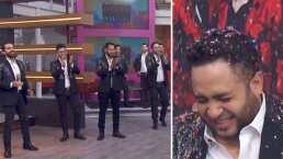 Integrantes de La Adictiva terminan llenos de confetti en pleno programa en vivo