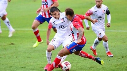 Javier Correa y Mauro Quiroga fueron los encargados de marcar en el entrenido empat que nos brindaron el Atlético San Luis y el Atlas.