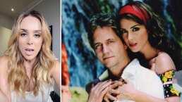 ¡Con todo y beso! Jacky Bracamontes recrea atrevida escena con Guy Ecker de 'Heridas de Amor'