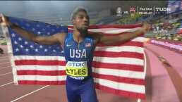 Noah Lyles, el más veloz del mundo en los 200m planos