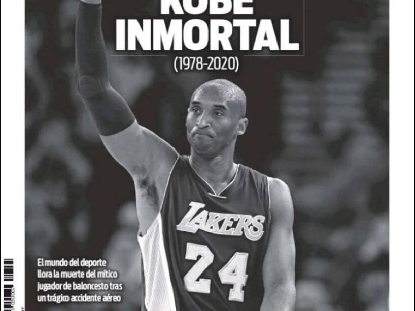 Kobe Bryant, periódico, SPORT.jpg