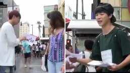 Video: Repartiendo propaganda para sus conciertos, así fue el inicio de BTS