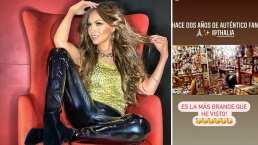 Fan tapiza todo su cuarto con fotografías de Thalía y ella le responde: '¡Qué honor tan grande!'