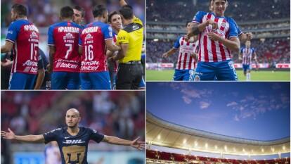 En una noche inmejorable para la práctica del futbol, así se enfrentaron Chivas y Pumas.