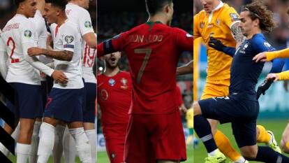 Resultados del día de la eliminatorias rumbo a la euro 2020.