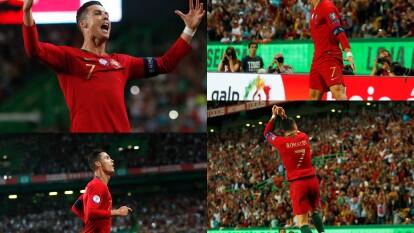 En la séptima jornada de eliminatorias para la Eurocopa, Cristiano Ronaldo marcó su gol 699.