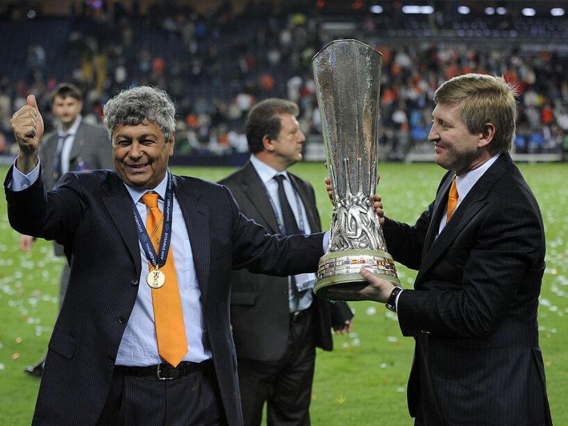 Shakhtar Donetsk's Romanian head coach M