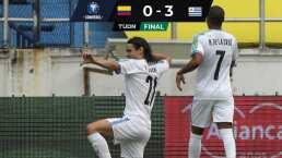 'Cabecita' y Uruguay no tuvieron piedad de Colombia