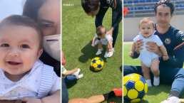Desde chiquito, al hijo de Mariana Echeverría ya le gusta el futbol y ya hasta entrena con su papá