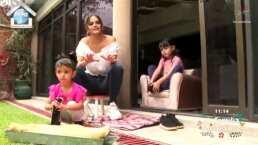 Marisol González y sus hijas te enseñan a crear un tapete para desinfectar los zapatos