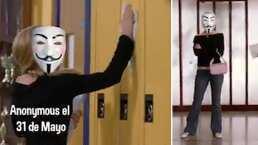 Como en 'Chicas pesadas': Así reaccionaron todos con la aparición de Anonymous