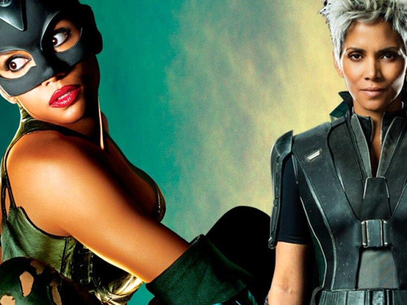 Halle Berry como Catwoman y Storm de X Men.