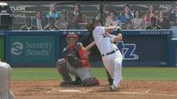 ¡Cañonazo! Murphy conecta un home run para el 3-0 de los Athletics