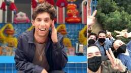 Mauricio Garza se subió al 'Superman' y por poco pierde su celular: salió volando