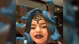 ¡Le asusta, pero le gusta!: Aitana Derbez se convierte en la diosa griega 'Medusa'