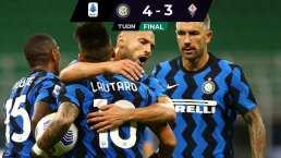 Arturo Vidal ya debutó con el Inter y sacó la victoria