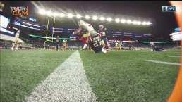 Dolorosa escapada de Wilson para el TD de los 49ers