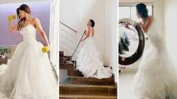 Estas mujeres están volviendo a usar sus vestidos de novia para tomarse fotos durante la cuarentena