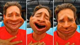 Con caras graciosas, Sebastián Rulli se anima a 'cantar' en público con divertido TikTok