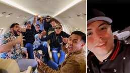 Eduin Caz nunca imaginó viajar en un avión privado y se pone nostálgico al agradecerle a sus fans