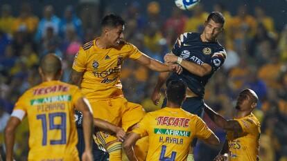Con goles de Luis Quiñones y Sebastián Córdova, Tigres y América dividen puntos en el estadio Universitario.
