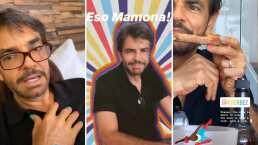Video: Aislinn y Vadhir Derbez exhiben a su papá Eugenio con la cabeza y las uñas pintadas; víctima de Aitana