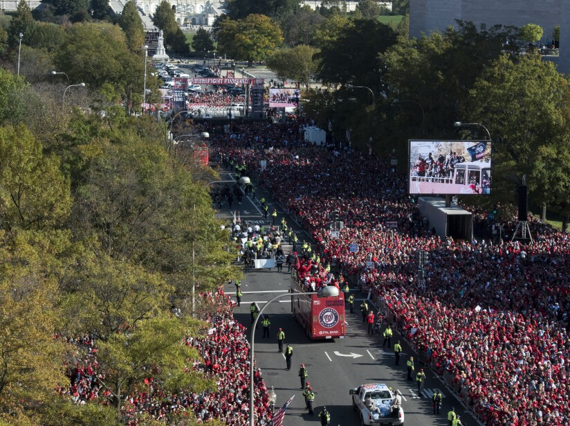 APTOPIX World Series Nationals Parade Baseball