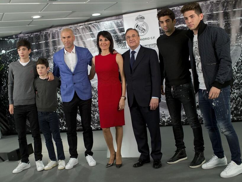 Enzo, Luca, Theo y Elyaz Zidane