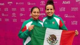 Las mexicanas Ariana Cepeda y Guadalupe Hernández ganaron oro en frontenis