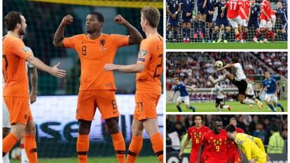Los resultados de los partidos eliminatorios rumbo a la Euro 2020.