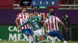 Chivas 1-1 León | Fallas, atajadas y un duelo abierto para la vuelta