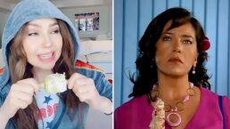 'El amor es como un elote': Thalía hace divertida parodia de 'María de Todos los Ángeles' en Tik Tok