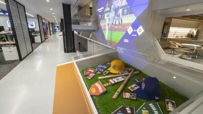 Así lucen las nuevas oficinas, en New York, del mejor béisbol del mundo.