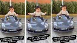 André, hijo de Sherlyn, recibe un tercer auto de lujo y el pequeño derrocha felicidad