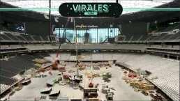 Así luce el interior del nuevo estadio de los Raiders en Las Vegas