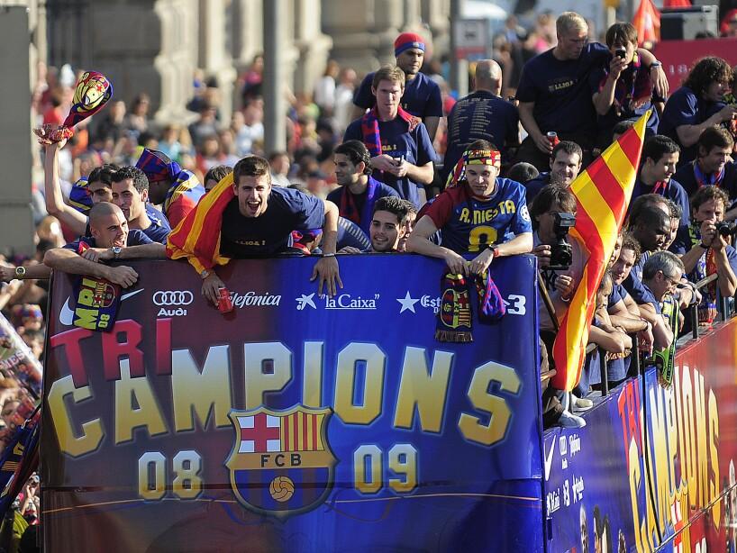 Spain Barcelona Champions League Celebrations