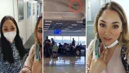 Sherlyn se lleva una gran sorpresa en el aeropuerto; se topa con un murciélago y advierte que no será su comida