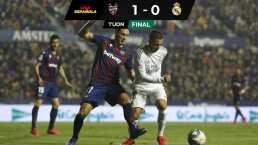 Tropezón del Real Madrid ante el Levante previo el Clásico