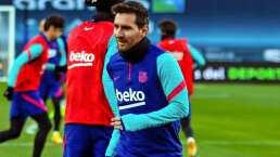 Messi entrena con el Barcelona y se prepara para la Final